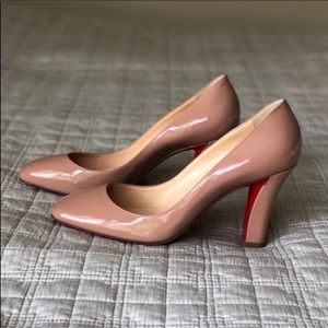 ffbe2c8f98f Christian Louboutin Shoes - 100% Authentic Louboutin Cadrilla Pump Patent  Nude